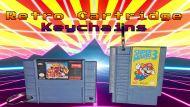 Nes & Snes Retro Cartridge Keychains
